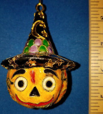 Cloisonne Jack o Lantern with a Witch's Hat 56700 253
