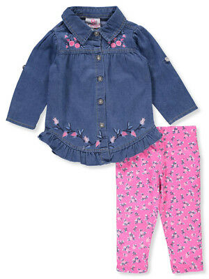 Real Love Baby Girls' 2-Piece Leggings Set Outfit