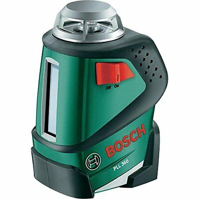 Bosch PLL 360 Cross Line Laser Featuring 360 Degrees Horizontal Function Measuri
