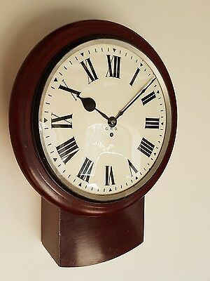 A large GPO drop dial wall clock - Fine original timepiece single fusee GWOrder