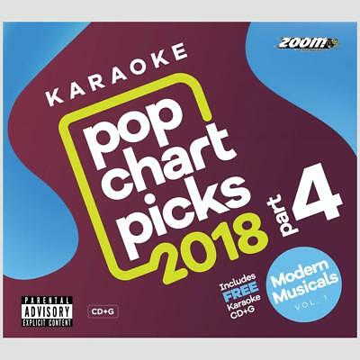 Karaoke Discs Zoom Pop Chart Picks Hits 2018 Part 4 CD+G + Modern Musicals CDG