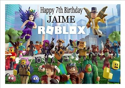 ROBLOX CAKE TOPPER Birthday Cake Edible A4 Printed Decoration
