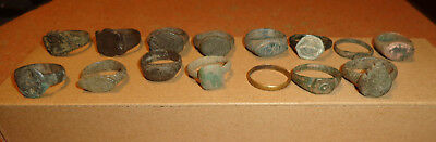 Set of 15 antique and medieval rings