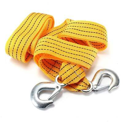 Heavy Duty Self-Rescue Car Tow Rope Strap Belt Nylon Strong Hook Towing Cable