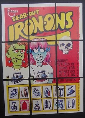1975 Wacky Packages 15th Series Puzzle IRON-ONS  9 trading card puzzle set EX