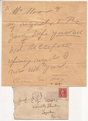 Letter From Anna Eva Fay To E. J. Moore 1921