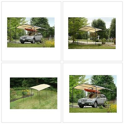 METAL CARPORT FRAME Steel Car Large Garage Tent Shelter Portable ...