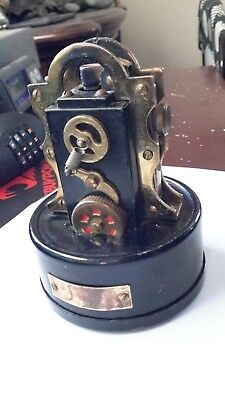 Vintage Antique Small Stock Ticker Tape Machine and Lighter - For the top stock
