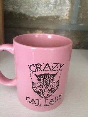Crazy Cat Lady Pink Coffee Cup Mug