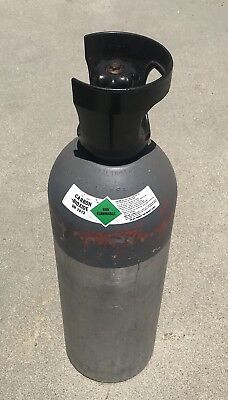 CO2 Carbon Dioxide UN1013 Pressurized Gas Tank Grow Hydro Inside Full Used