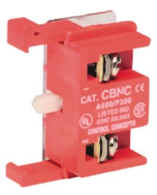 C3 Controls CBNC 30mm Industrial Contact Block for Pilot Devices, NC, Silver