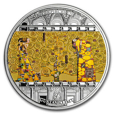 2018 Cook Islands 3 oz Silver Masterpieces of Art Tree of Life - SKU#171737