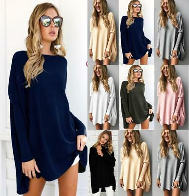 Womens Long Sleeve Oversized Pullover Sweater Jumpers Loose Tops Casual Blouse