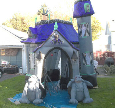 original gemmy 125 halloween airblown inflatable haunted house outdoor decor