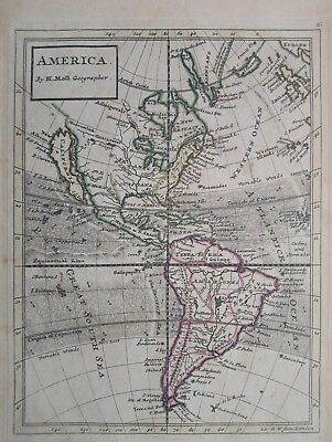 1732 Map America by Herman Moll Geographer California as an Island United States