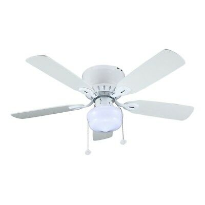 Kennesaw 42 In Indoor Ceiling Fan With Led Light Kit Reversible Blades White