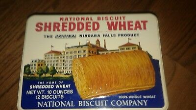 Vintage National Biscuit Shredded Wheat Tin Repo Excellent Condition