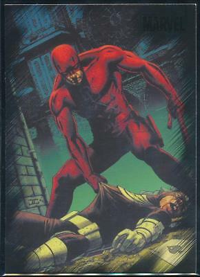 2010 Marvel Heroes and Villains Trading Card #77 Daredevil vs. Bullseye