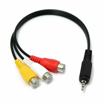 3.5mm AUX Male to 3RCA Female Cable Composite Stereo Audio AV Adapter DVD Cord