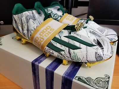 5f499272e22 Adidas Adizero 5-Star 5.0 Snoop Dogg Money Football Cleats SZ 10 ( D70177 )