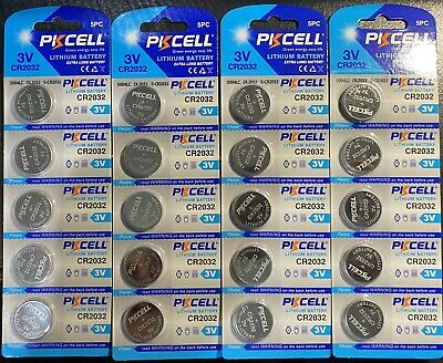 CR2032 PKCELL 3V volt Extra Long Lithium.fast shipping USA Seller ( 4 Batteries)