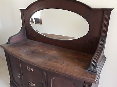 Antique Wooden Sideboard 1920's