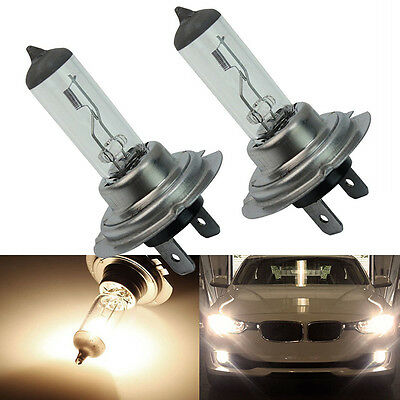 2pcs H7 Xenon Halogen 55W 12V Car Front Headlight Light Bulbs Super Br Lamp T4L4