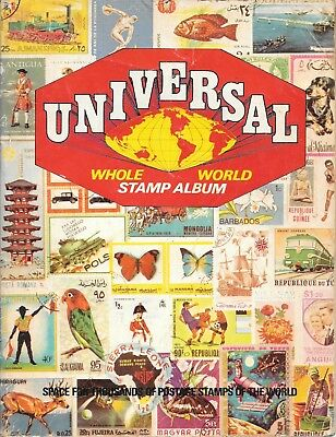 Universal whole world stamp album unused empty vintage