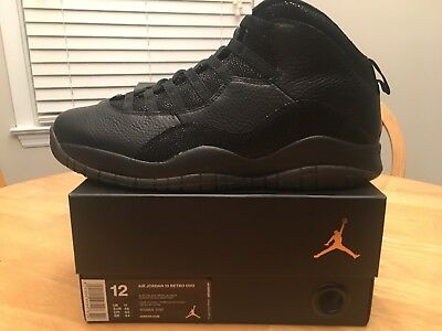 Nike Air Jordan 10 Retro OVO Sz 12 Black Metallic Gold October Drake 819955- 030 ca6353158