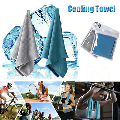 Instant Cooling Chilly Towel Running Jogging Gym Sports Yoga Ice Cycle Useable