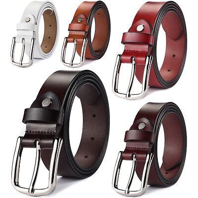 Women's Classic Metal Buckle Handcrafted Genuine Leather Belt