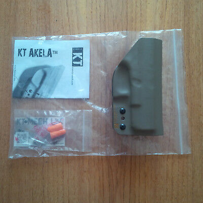 KT-Mech USA Akela Kydex Holster Glock 19/23 FDE + KT Akela Kydex Single Magpouch