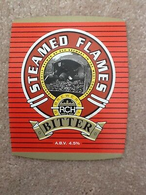 Beer Pump Clip - Rch Brewery Steamed Flames