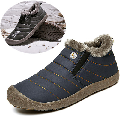 Men's Winter Snow Boots  Ankle Outdoor Waterproof Shoes Trainer Large size 13