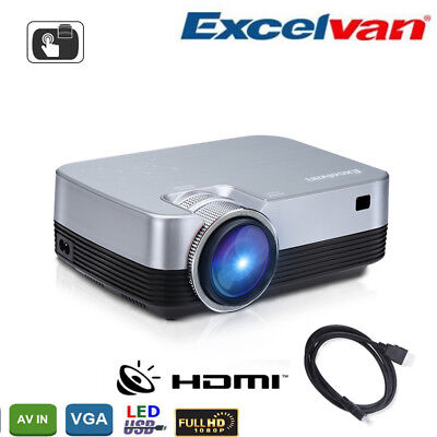 LED YG320 MINI Multimédia Projecteur 1080P HDMI USB AV TF SD Retroprojecteur EU