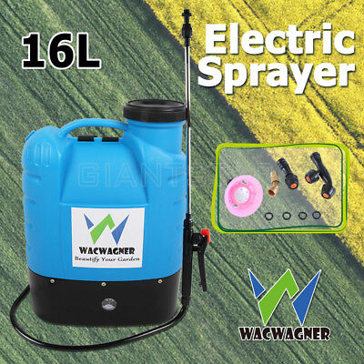 WACWAGNER 16L Electric Weed Sprayer Spray Rechargeable Backpack Garden Pump 12V