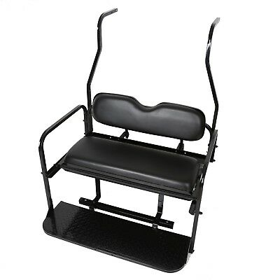 Folding Rear Flip Back Seat Kit For 2000-2013 Club Car Golf Cart DS Black