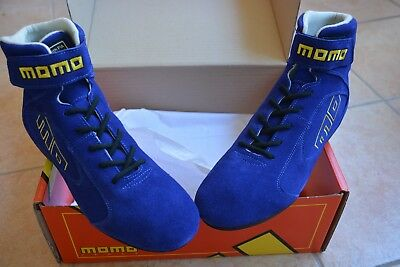 Authentic Momo Pro Rally Racing Shoes Blue (Sizes 39-40-41-43-44-45)