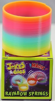 Rainbow Spring Classic  Slinky Fun Kids Toy Magic Stretchy Bouncing New