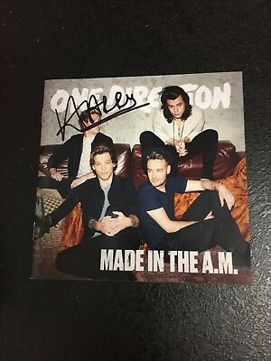 HARRY STYLES HAND Signed One Direction Made in the AM Album Cover