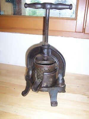 ANTIQUE Wine Press Fruit juice Press, French-made from the beginning of the cent