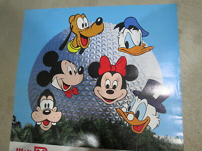 (5) ORIGINAL Coca~Cola '87 WALT DISNEY WORLD 15th ANNIVERSARY POSTERS 24H x 18W