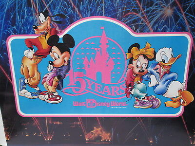 (10) ORIGINAL Coca~Cola '87 WALT DISNEY WORLD 15th ANNIVERSARY POSTER 17H x 14W