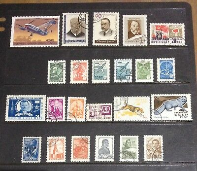 Russian 23 Assorted Selection Stamps With Gum Mainly Cto