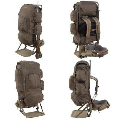 HUNTING BACKPACK PACK Bag Freighter Frame Hiking Rifle Holder Carry ...