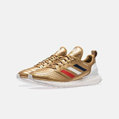 13bdb342b1d23 Adidas Soccer Kith Copa Mundial 18 Ultraboost 7.5 AACG7065 Leather Gold USA  Box