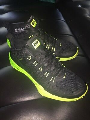 e7111c6c809a Men s Nike Lunar TR1 Sz 10 Training Black Green Yellow Flywire Sample Pair