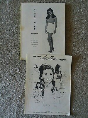 1973 Miss Texas America Pageant Program Fort Worth Texas