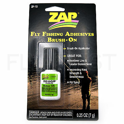 ZAP-A-GAP BRUSH-ON - Fly Fishing Adhesive Medium CA+ Fly Tying Super Glue NEW!