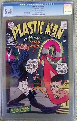 Plastic Man #6 (Sep-Oct 1967, DC) 5.5 FN- CGC